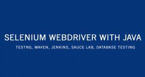 selenium webdriver with java tutorial